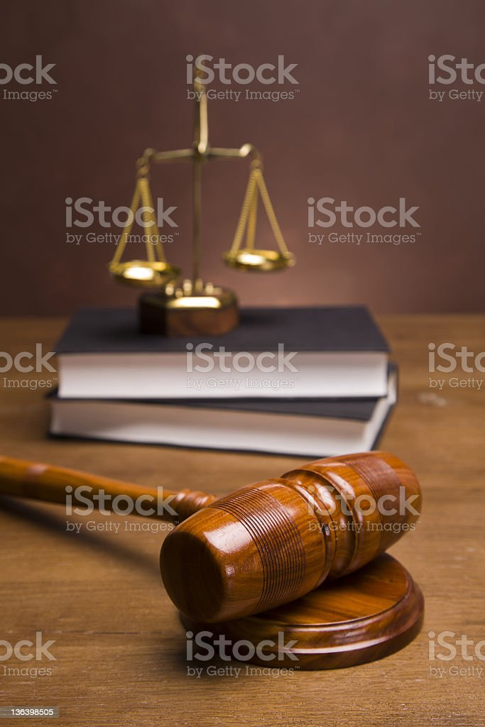 Gavel and legal code royalty-free stock photo