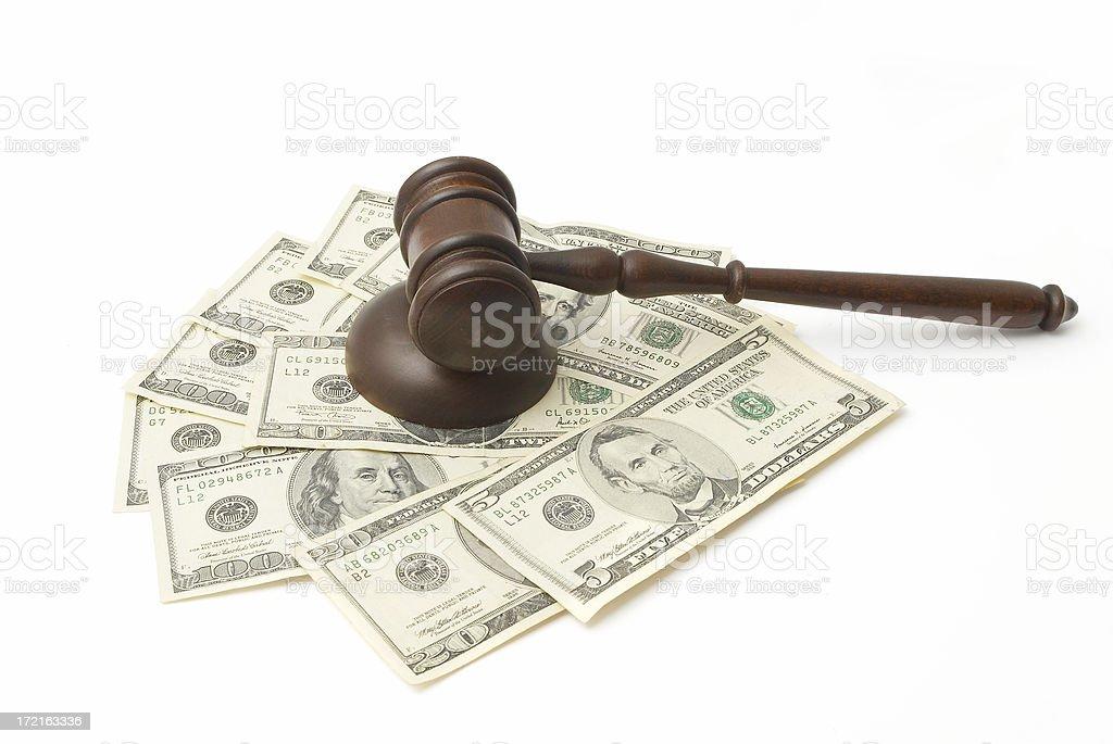 Gavel and Money royalty-free stock photo