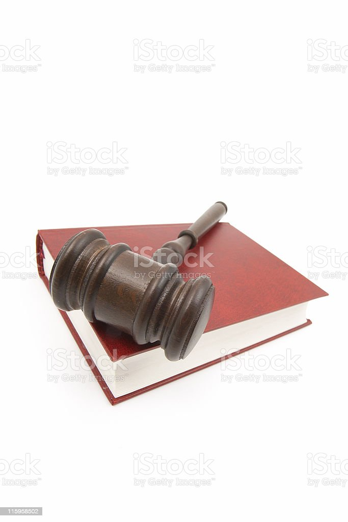 Gavel and Red Book royalty-free stock photo