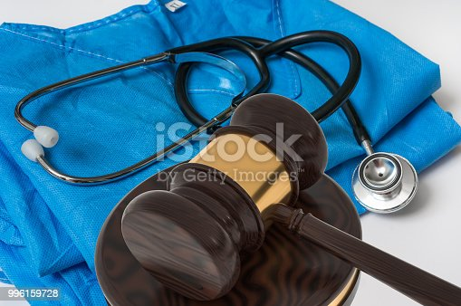 istock Gavel and stethoscope - medical law concept 996159728