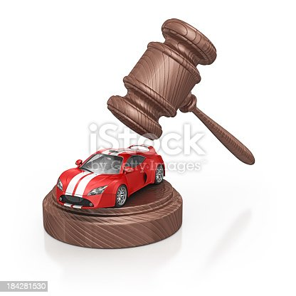 istock gavel and supercar 184281530