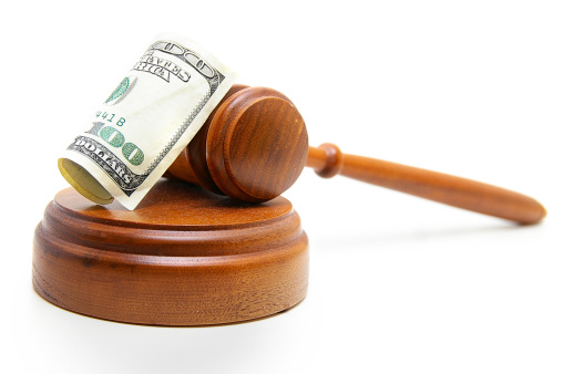 Gavel Cash Stock Photo - Download Image Now