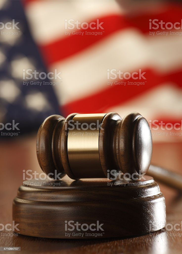 Gavel & Flag royalty-free stock photo