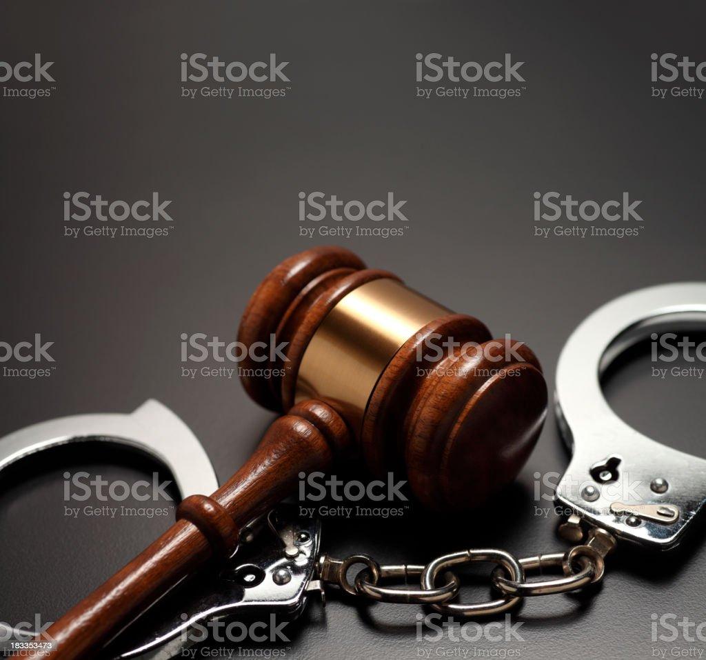 Gavel & Handcuffs stock photo