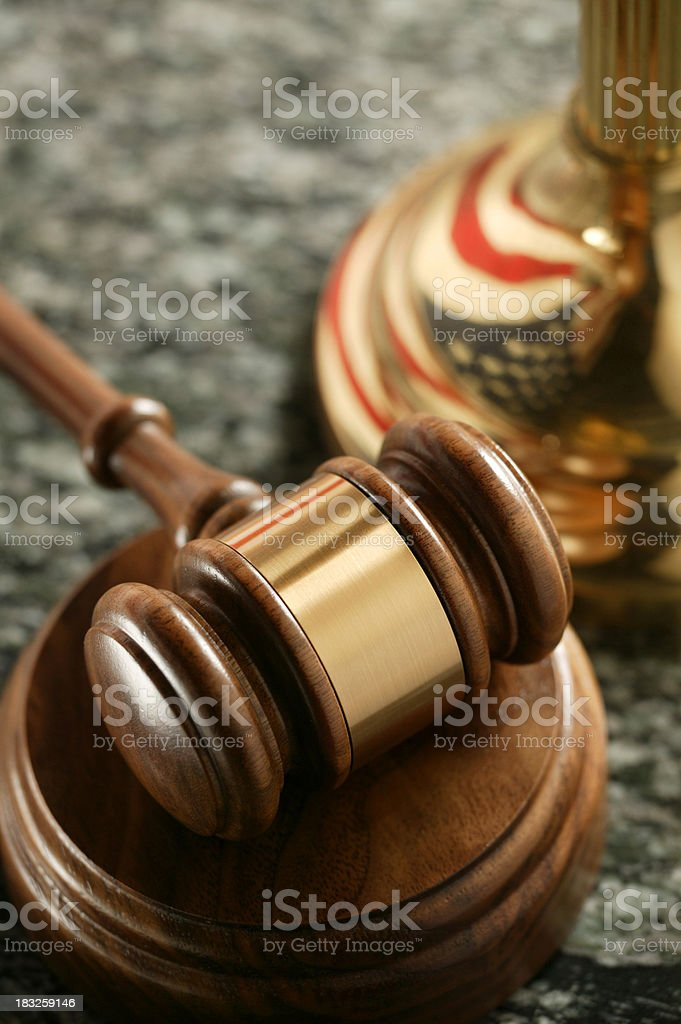 Gavel on Sounding Block royalty-free stock photo