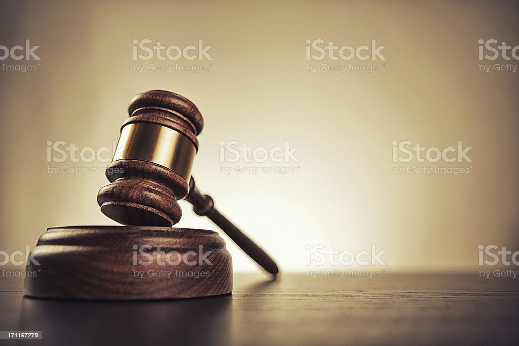 Молоток судьи стоковое фото