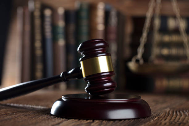 Gavel. Gavel, books, balance, wooden table. lawsuit stock pictures, royalty-free photos & images