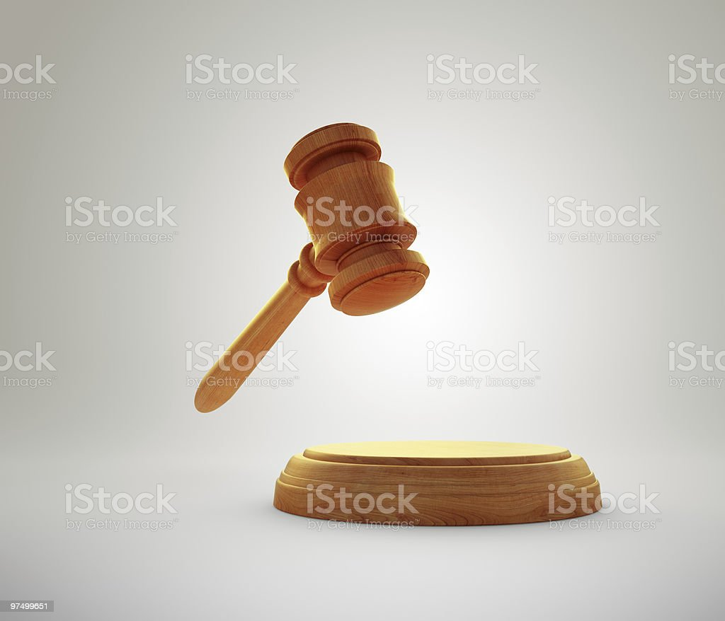 Gavel with a sound block royalty-free stock photo