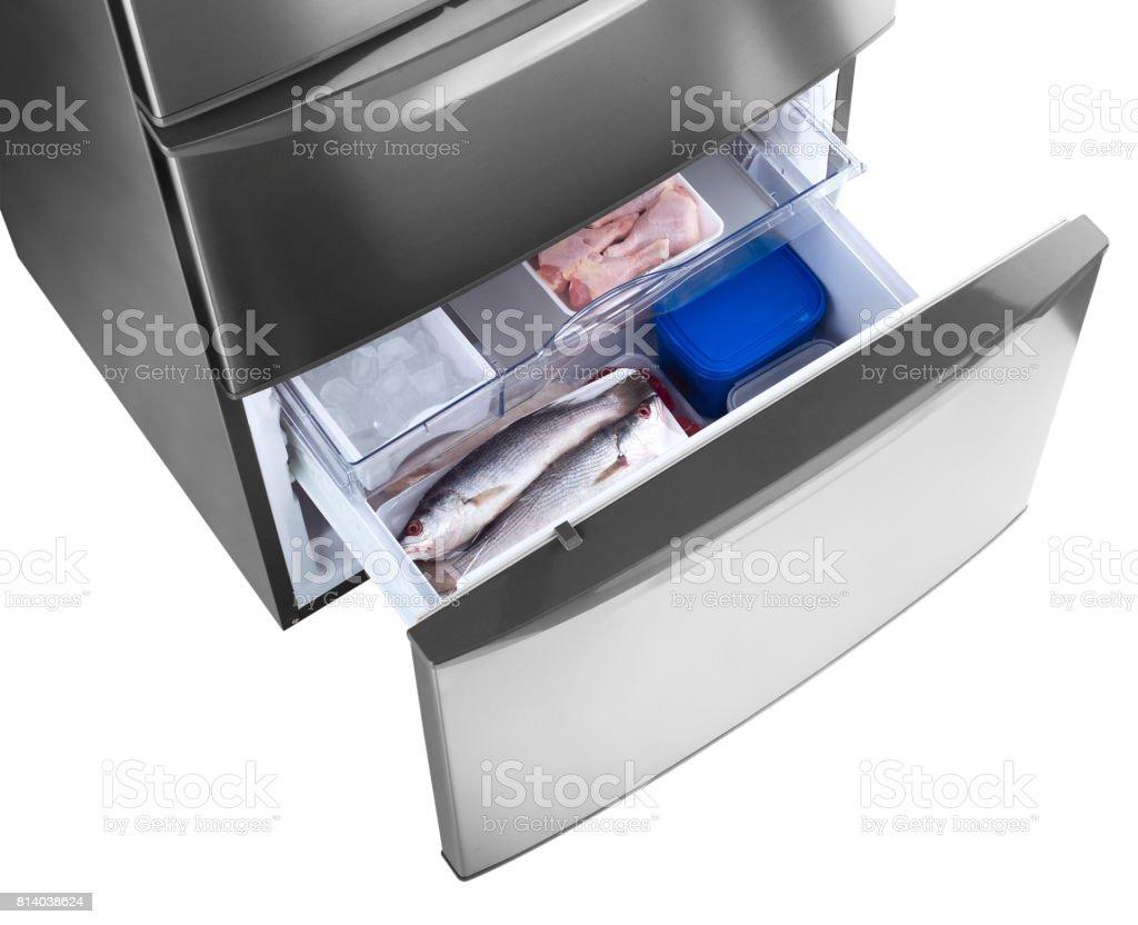 Gaveta de geladeira stock photo