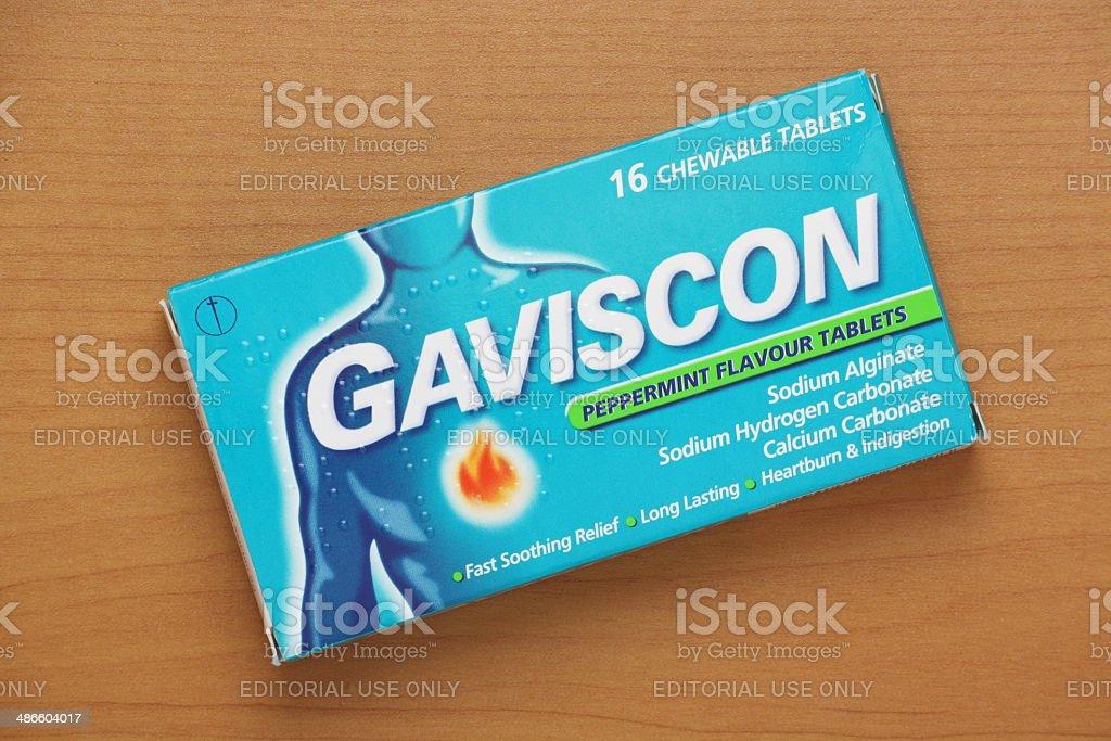 Gaviscon Indigestion Tablets stock photo