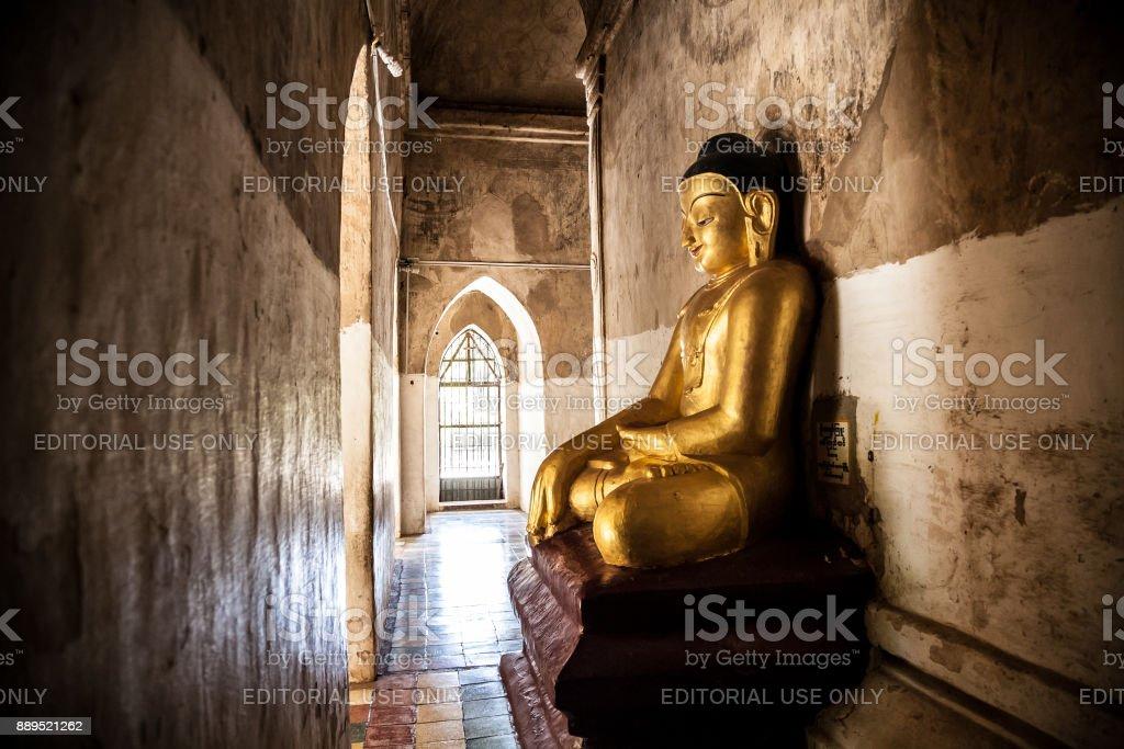 Gawdawpalin temple corridor, Old Bagan, Myanmar stock photo