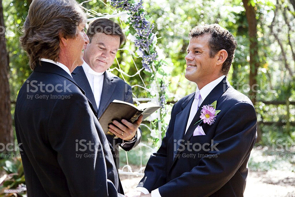 Gay Couple Getting Married stock photo