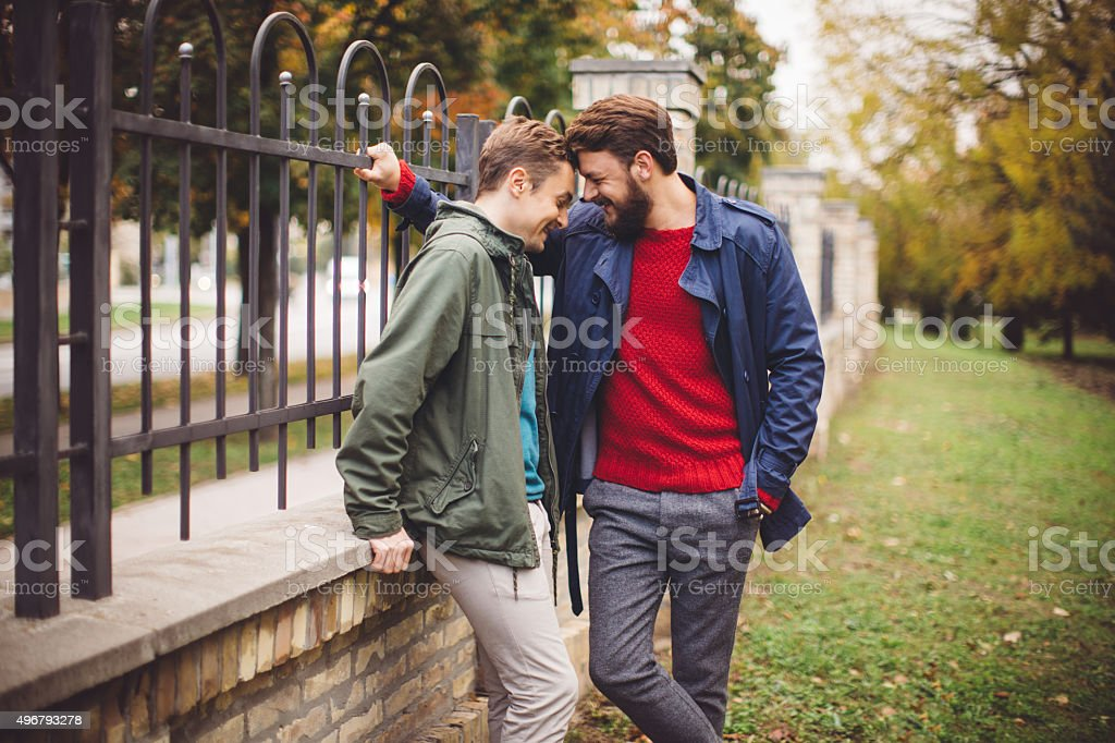 Gays have some fun outdoor