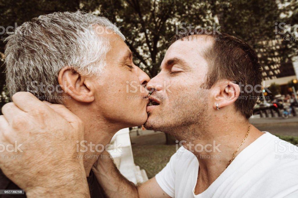 Küssen während eines Hookup