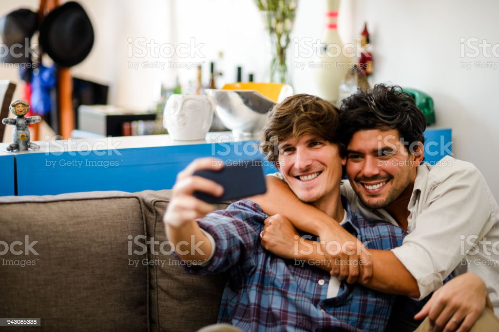 Homosexual group at home