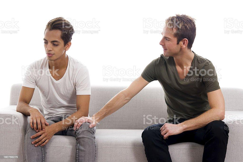 Gay Couple - Not Talking royalty-free stock photo