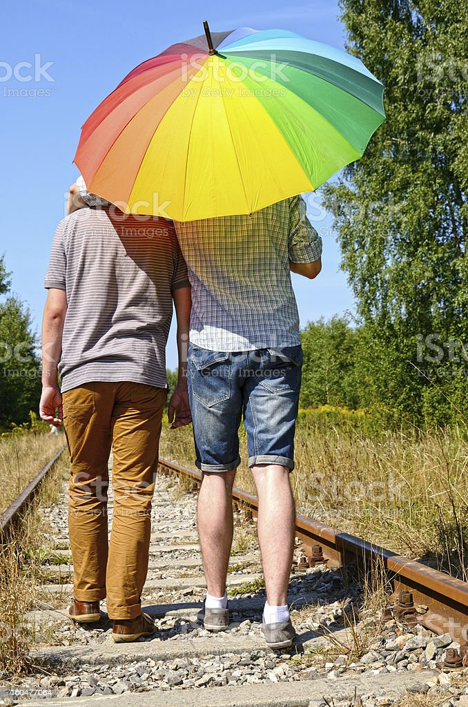 Gay couple royalty-free stock photo
