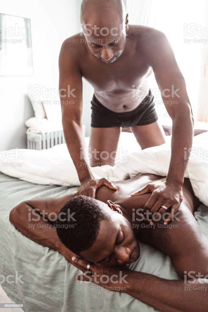Masaje a pareja gay