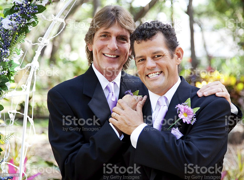 Gay Couple - Wedding Portrait stock photo