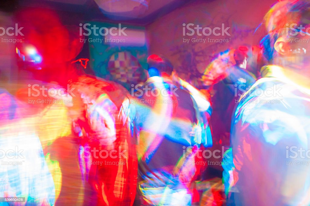 Gay dance floor full of color stock photo