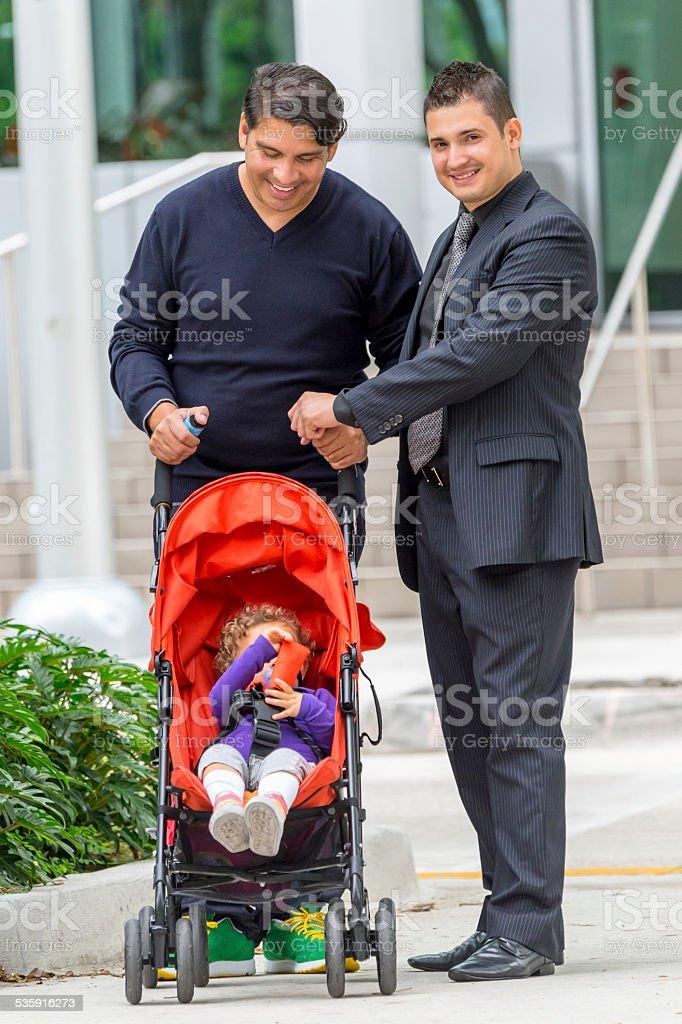 Gay Family stock photo