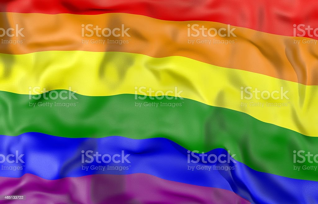 Gay flag 3D illustration stock photo
