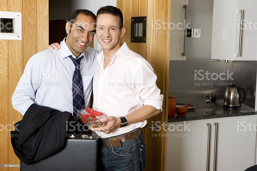 gay lifestyle: best of friends stock photo