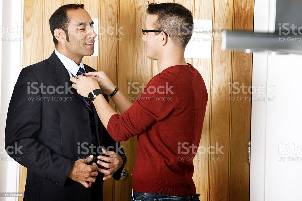 gay lifestyle: dresssed for work stock photo