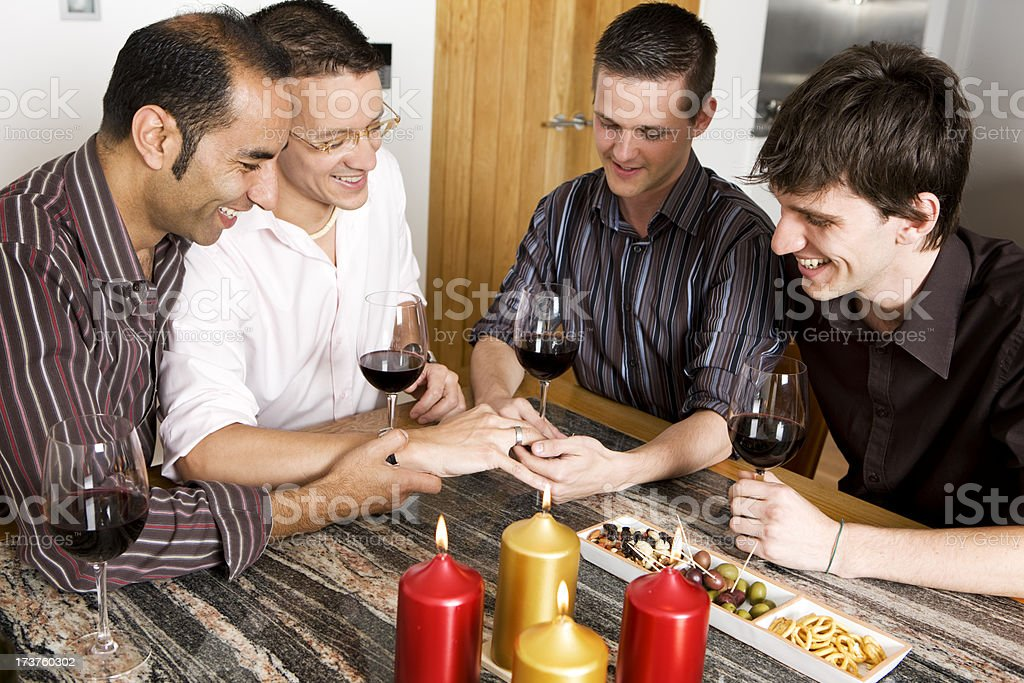 gay lifestyle: engagement party royalty-free stock photo