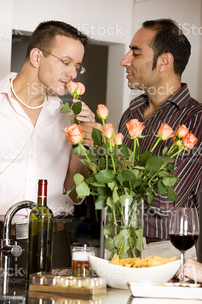 gay lifestyle: fresh flowers royalty-free stock photo