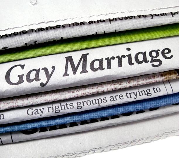 Gay Marriage Headline stock photo