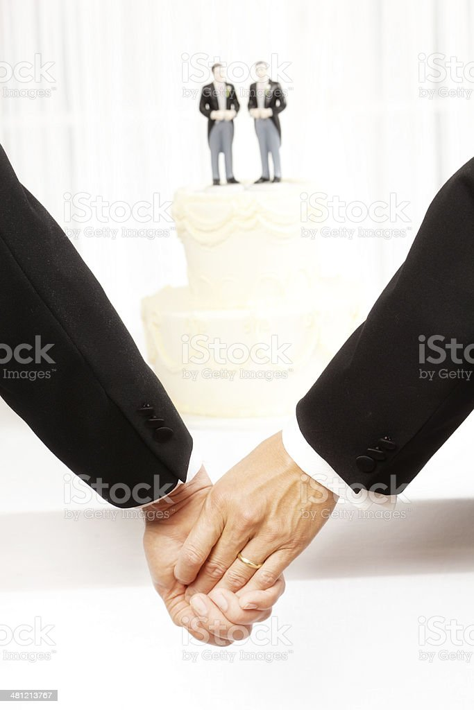 Gay Men Same Sex Marriage Wedding Ceremony royalty-free stock photo