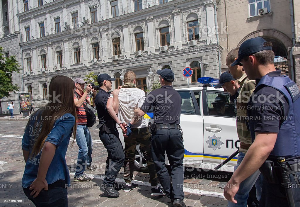Gay parade in Kiev stock photo