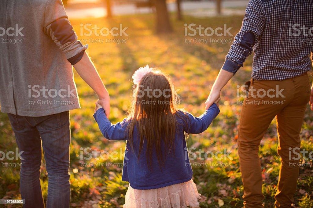 Gay Eltern und Tochter – Foto