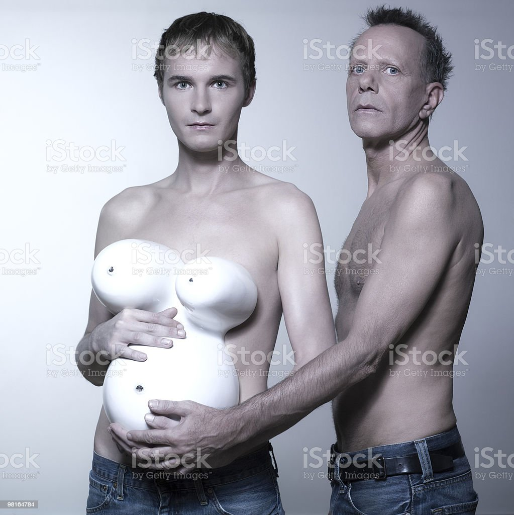 gay pregnant couple royalty-free stock photo