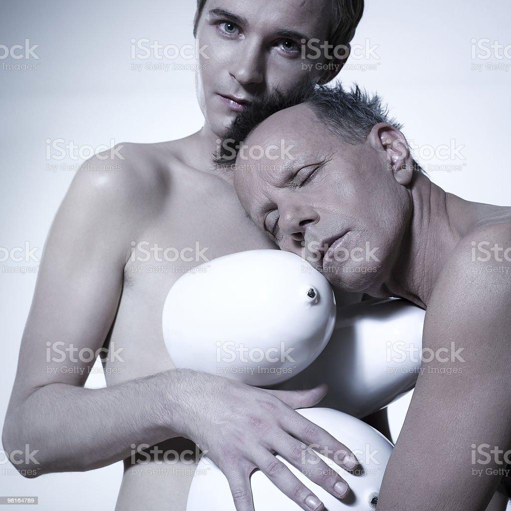 Coppia gay incinta foto stock royalty-free