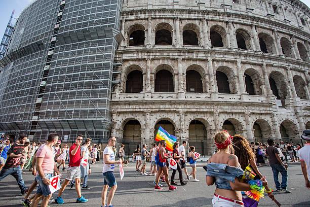 Gay Pride a Roma - foto stock