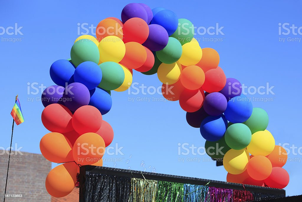 Gay Pride Balloon Rainbow royalty-free stock photo