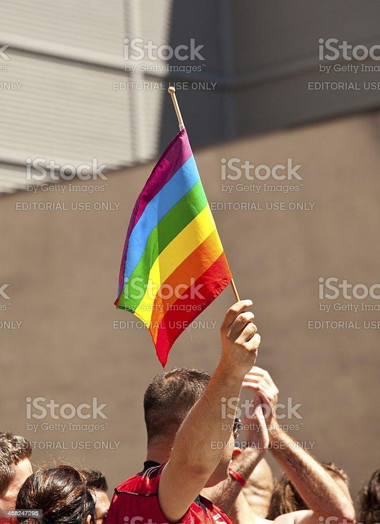 Gay Pride Flag royalty-free stock photo