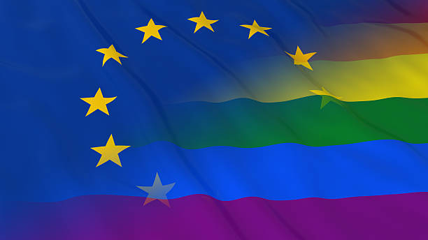 gay-pride-in-europe-concept-rainbow-and-european-union-flag-picture-id622061718