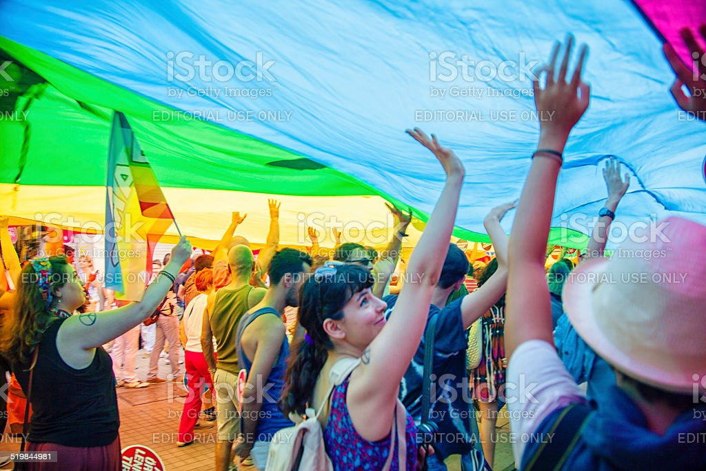 Gay Pride Istanbul stock photo