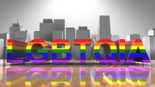 LGBTQIA Gay Pride LGBT Mardi Gras graphic title 3D render Gay Pride graphic title 3D render. The letters LGBT & LGBTQIA refer to lesbian, gay, bisexual, transgender, queer or questioning, intersex, and asexual or allied. cisgender stock pictures, royalty-free photos & images