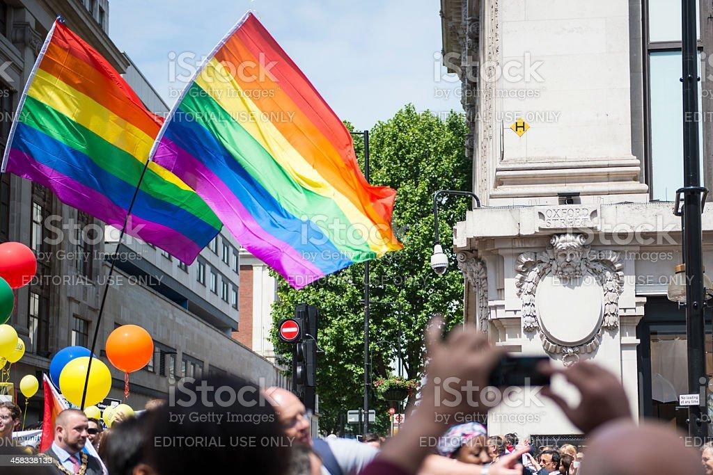 Gay Pride parade at Selfridges, London royalty-free stock photo