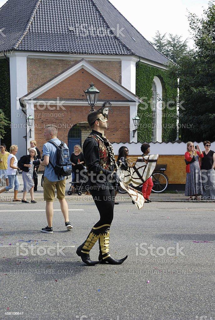 Gay pride parade in Copenhagen royalty-free stock photo