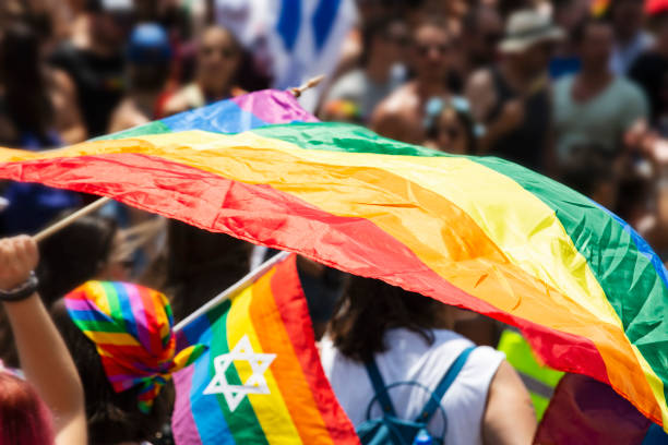 Gay Pride Parade in Tel Aviv, Israel. stock photo