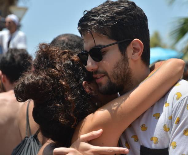 Gay pride parade in Tel Aviv stock photo