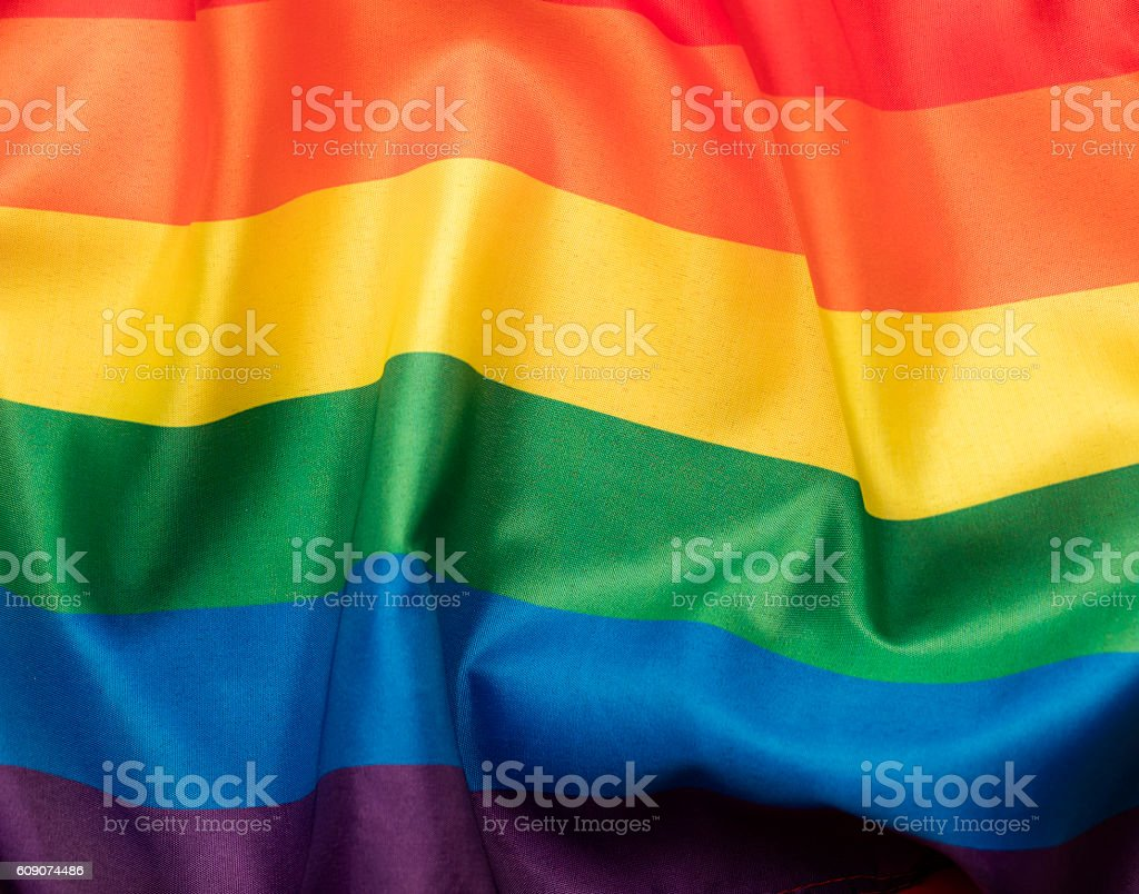 LGBT gay pride rainbow flag – Foto