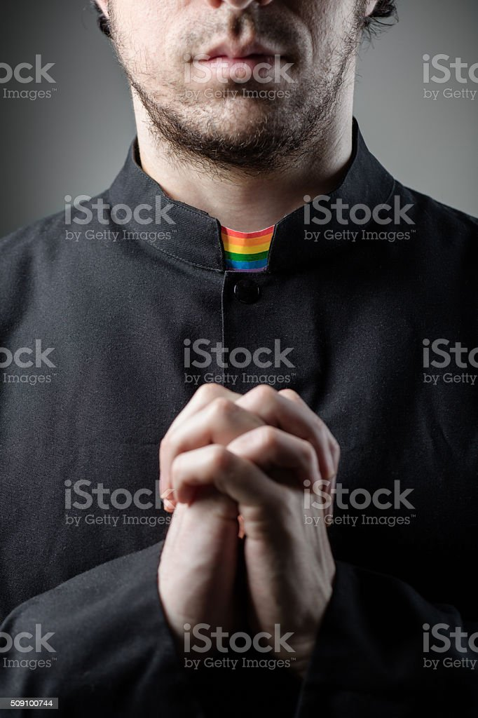 Gay Priest stock photo