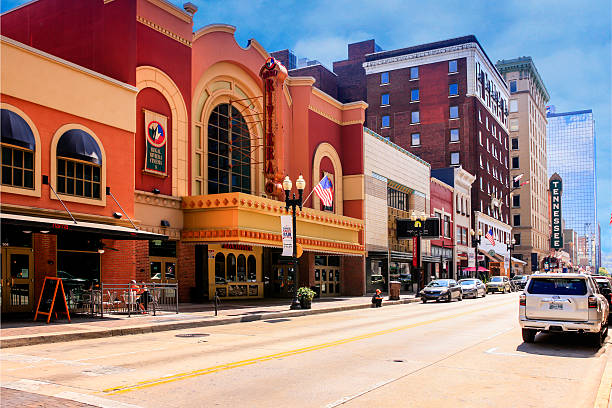 Gay Street in downtown Knoxville, TN stock photo