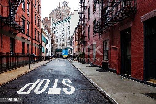 Gay Street in Greenwich Village - Manhattan, New York, USA